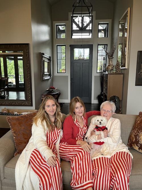 Rebecca Olodort family Christmas 2020